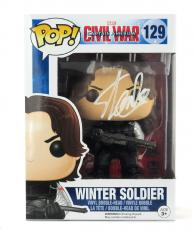 Stan Lee Signed Funko Pop! Marvel Civil War Winter Soldier Toy