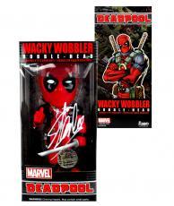 Stan Lee Signed Funko Pop Marvel Deadpool Wacky Wobbler Bobble Head