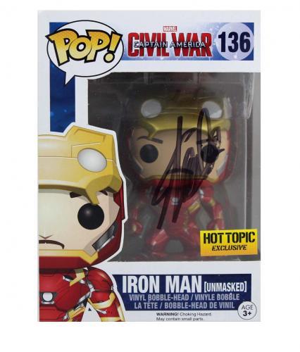 Stan Lee Signed Funko Pop! Marvel Iron Man Civil War #136 Action Figure - Black Ink