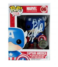 Stan Lee Signed Funko Pop! Marvel Universe Captain America #06 Vinyl Action Figure