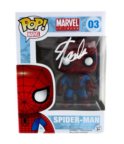Stan Lee Signed Funko Pop! Marvel Spider-Man #03 Bobblehead Toy