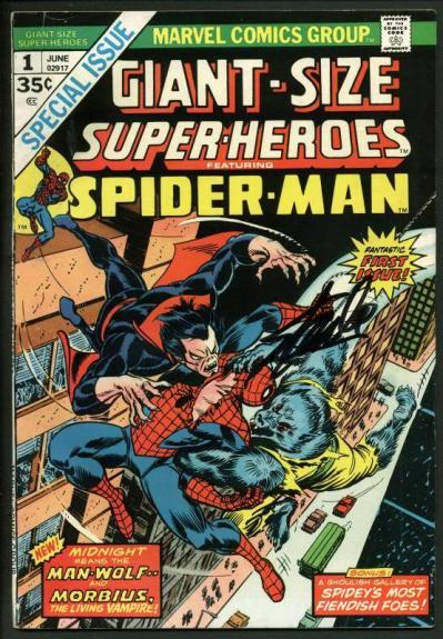 Stan Lee Signed Giant Size Superheroes Feat. Spider-Man #1 Comic Book PSA W18725