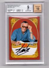 Stan Lee Signed Historic Signatures Panini Card BGS 9 Autograph Grade 10 STL 1A