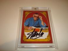 Stan Lee Signed Historic Signatures Panini Card Golden Age Autographed #STL 1C