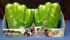 Stan Lee signed Hulk Avengers 1 Pair Gamma Green Smash Fist PSADNA LOA # W05163