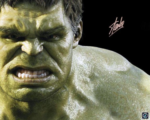Stan Lee Signed Hulk Avengers 16x20 Photo