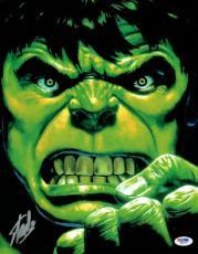Stan Lee Signed Hulk Marvel Comics Authentic Autographed 11x14 Photo PSA/DNA #2
