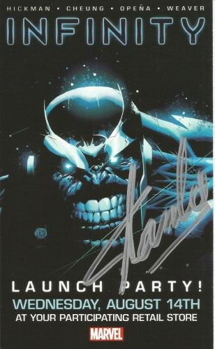 Stan Lee Signed INFINITY #1 4x7 Marvel Comics Promotional Card