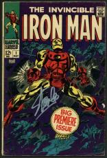 Stan Lee Signed Iron Man #1 Comic Book W/ Graded Gem 10 Autograph! PSA #6A20967