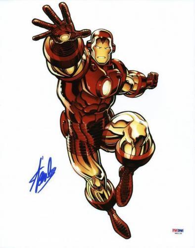 Stan Lee Signed Iron Man 11X14 Photo Marvel Comics PSA/DNA 2