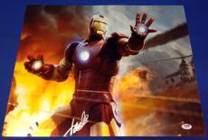 Stan Lee Signed Iron Man 16x20 Chrome Photo - PSA/DNA # X08420