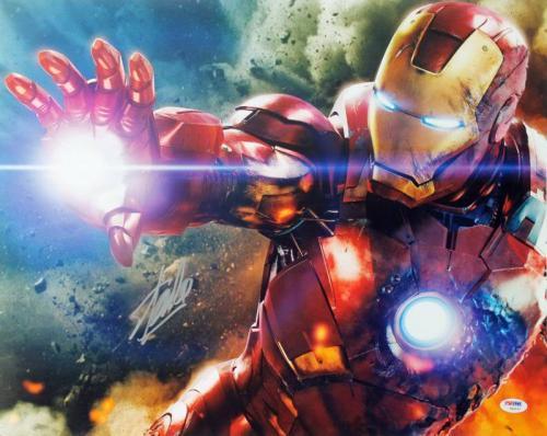 Stan Lee Signed Iron Man 16X20 Photo Marvel Comics Autographed PSA/DNA