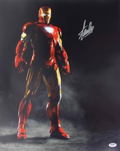 Stan Lee Signed Iron Man 16X20 Photo Marvel Comics PSA/DNA 4