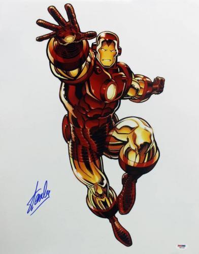 Stan Lee Signed Iron Man 16X20 Photo Marvel Comics PSA/DNA 6