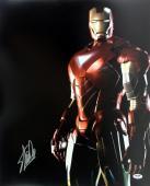 Stan Lee Signed Iron Man 16X20 Photo Marvel Comics PSA/DNA 7