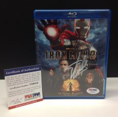 Stan Lee Signed IRON MAN 2 Blu-Ray Movie Cover - PSA/DNA # Y36010