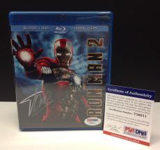 Stan Lee Signed IRON MAN 2 Blu-Ray Movie Cover - PSA/DNA # Y36011