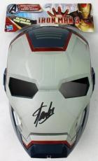 Stan Lee Signed Iron Man 3 Blue Mask W/ Stan Lee Hologram & PSA/DNA