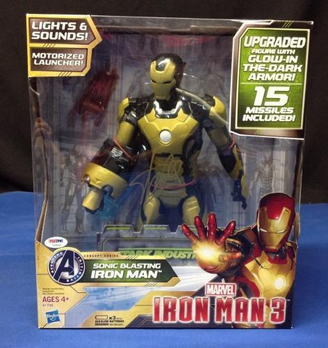 Stan Lee signed Iron Man 3 Sonic Blasting Iron Man  Figure PSA/DNA  #X08600