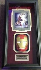 Stan Lee signed Iron Man 8X10 Photo Custom Framed with Iron Man Mask PSA/DNA COA