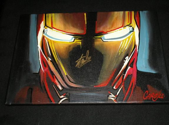STAN LEE Signed IRON MAN Original Painting Pop Art Marvel Creator BECKETT COA