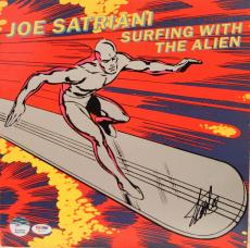 "STAN LEE Signed Joe Satriani ""Surfing With The Alien"" Album LP PSA/DNA #W14250"