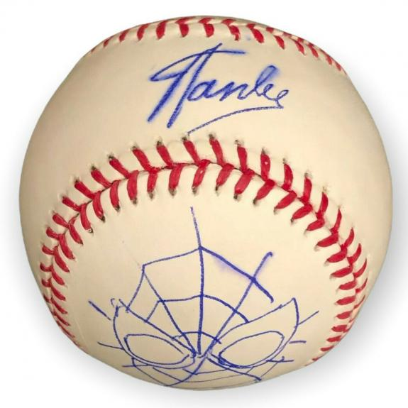 Stan Lee Signed Major League Baseball W/ John Romita Jr. Spider-Man Sketch PSA