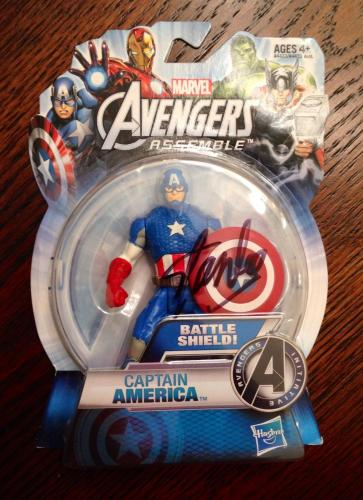 Stan Lee Signed Marvel Avengers Captain America Toy Figure W/ Stan Lee Hologram