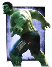 Stan Lee Signed Marvel Avengers Incredible Hulk 11x14 Limited Edition Print #1/3