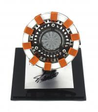 Stan Lee Signed Marvel Avenger's Iron Man Arc Reactor Light-Up Handmade Prop in Display Case