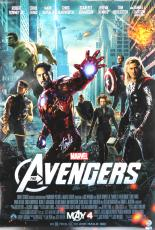 Stan Lee Signed Marvel Avengers Motion Picture 24x36 Original Movie Poster