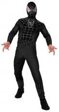 Stan Lee Signed Marvel Black Spiderman Full Adult Costume W/ Stan Lee Hologram
