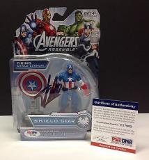 Stan Lee Signed Marvel CAPTAIN AMERICA Action Figure - PSA/DNA # Y17993