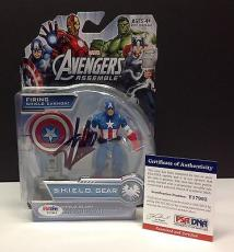 Stan Lee Signed Marvel CAPTAIN AMERICA Action Figure - PSA/DNA # Y17993