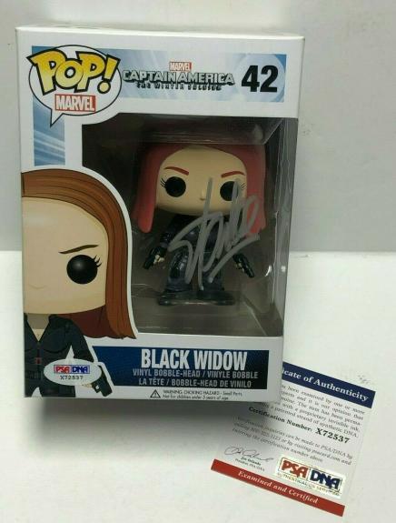 Stan Lee Signed Marvel Captain America Black Widow Vaulted Funko POP #42 PSA