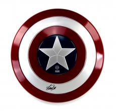 Stan Lee Signed Marvel Captain America Full Size Plastic Shield - Black Ink