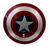 Stan Lee Signed Marvel Captain America Full Size Plastic Shield - Silver Ink