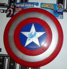 Stan Lee Signed Marvel Captain America Shield Toy PSA/DNA COA Autograph Avengers