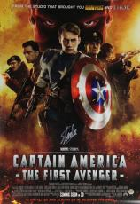 Stan Lee Signed Marvel Captain America The First Avengers 27x40 Movie Poster