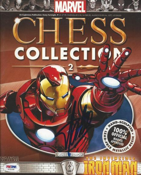 Stan Lee signed Marvel Chess Collection #2 PSA/DNA #X72158