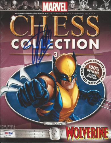 Stan Lee signed Marvel Chess Collection #3 PSA/DNA #X72160