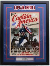 Stan Lee Signed Marvel Comics Captain America 16x20 Photo Framed Psa/dna Ac32335