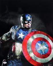 "Stan Lee Signed Marvel Comics ""captain America"" 16x20 Photo Psa/dna #ac32222"
