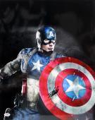 Stan Lee Signed Marvel Comics Captain America 16x20 Photo Psa/dna #ac32307