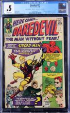 Stan Lee Signed Marvel Comics Daredevil #1 CGC Graded PSA/DNA #Z04195