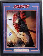 """Stan Lee Signed Marvel Comics """"spider-man"""" 16x20 Photo Framed Psa/dna #ac32374"""