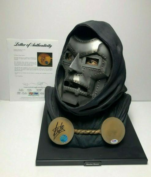 Stan Lee Signed Marvel Doctor Doom Full Size Head Bust PSA X01581/Exclesior COA