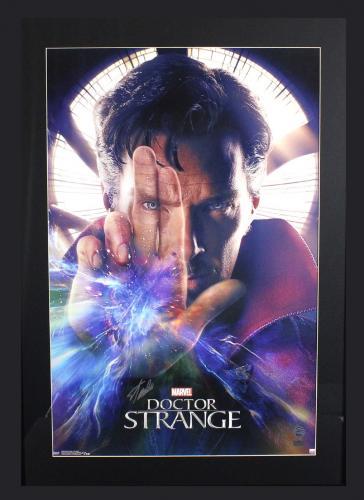 Stan Lee Signed Marvel Doctor Strange Framed Full Size Poster