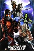 Stan Lee Signed Marvel Guardians of the Galaxy Full Size Poster