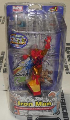 Stan Lee Signed Marvel Iron Man Collectible Figure PSA/DNA COA The Avengers Auto
